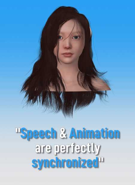 Voice and facial animation from text