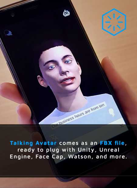 talking avatar in FBX file to allow plugin with real-time animation in Rokoko, Unreal Engine, FaceCap and more