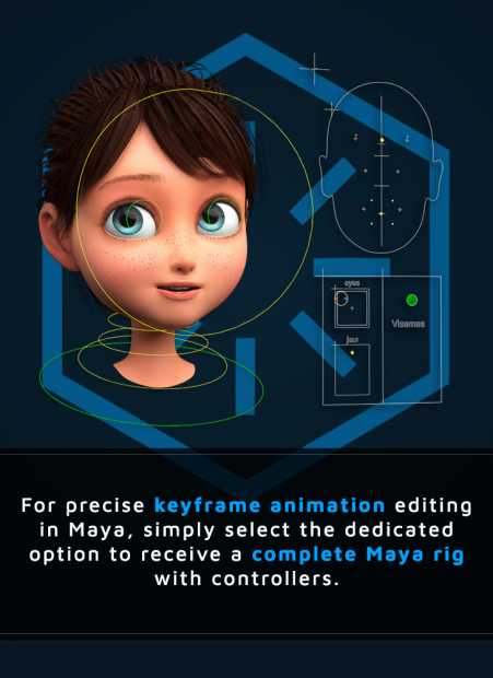 talking avatar available in maya version with complete maya rig and controllers