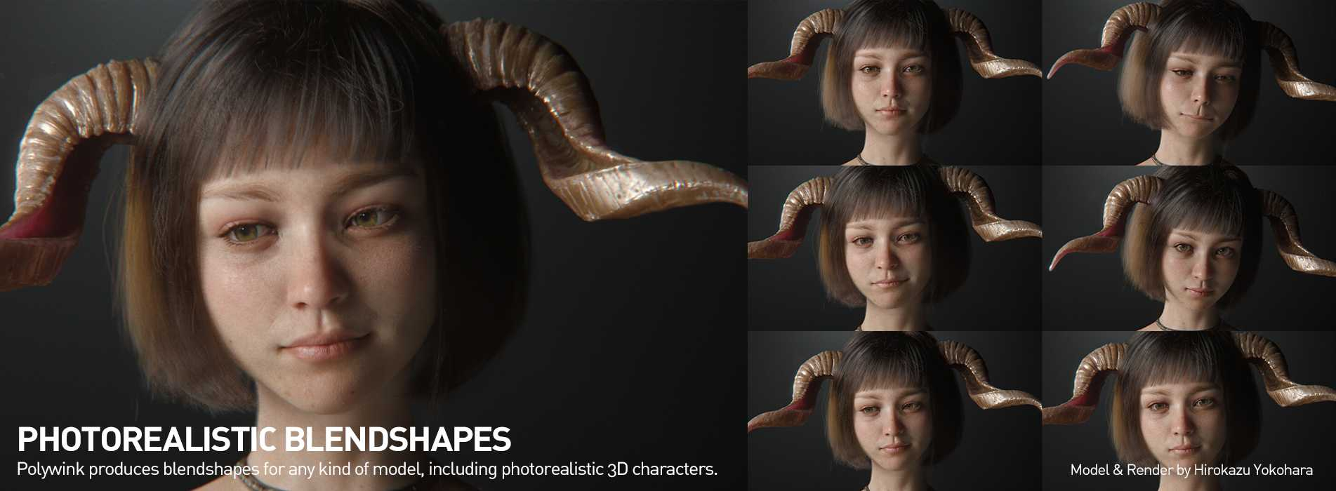 Polywink Blendshapes for Photorealistic Models